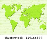 eco background with world map.... | Shutterstock .eps vector #114166594