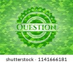 question green mosaic emblem | Shutterstock .eps vector #1141666181