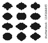 a set of farmes silhouette.... | Shutterstock .eps vector #114166645