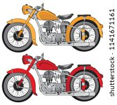 motorcycle vintage style ... | Shutterstock .eps vector #1141671161