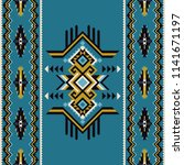tribal kilim  abstract... | Shutterstock .eps vector #1141671197