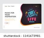 landing page web design live... | Shutterstock .eps vector #1141673981