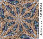 cartoon handdrawn handmade... | Shutterstock . vector #1141684544