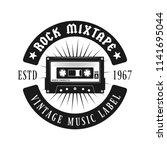 audio cassette music emblem ... | Shutterstock .eps vector #1141695044