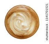top view of hot coffee... | Shutterstock . vector #1141701521