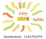 lettering  enjoy autumn   hand... | Shutterstock .eps vector #1141701974