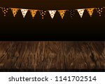 carnival for halloween with...   Shutterstock .eps vector #1141702514