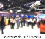 image of cctv security camera... | Shutterstock . vector #1141709081