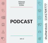 podcast   icon for web and... | Shutterstock .eps vector #1141709777