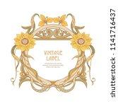 frame  border in art nouveau... | Shutterstock .eps vector #1141716437