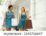 trendy modern women in summer...   Shutterstock . vector #1141716647