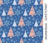 snowflake winter christmas tree ...   Shutterstock .eps vector #1141717067