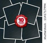 10 years anniversary vector... | Shutterstock .eps vector #1141717994