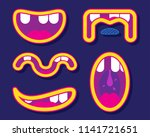 a toon in the process of... | Shutterstock .eps vector #1141721651
