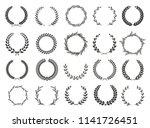 set of laurel wreaths. heraldic ... | Shutterstock .eps vector #1141726451