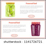 preserved food internet banners ... | Shutterstock .eps vector #1141726721