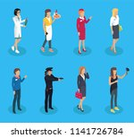 doctor and waitress policewoman ... | Shutterstock .eps vector #1141726784