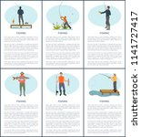 Fishing Man Posters With Text....