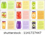 tomatoes and peppers  green and ... | Shutterstock .eps vector #1141727447