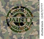 dainty on camo pattern | Shutterstock .eps vector #1141727777