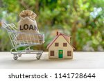 home   mortgage loan or reverse ... | Shutterstock . vector #1141728644