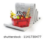 grocery expenses budget  and... | Shutterstock . vector #1141730477
