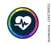 ekg   app icon | Shutterstock .eps vector #1141730921