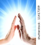 hands of young woman and...   Shutterstock . vector #11417359