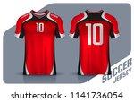 t shirt sport design template ... | Shutterstock .eps vector #1141736054