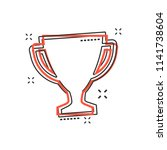 vector cartoon trophy cup icon...