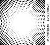 vector circle halftone... | Shutterstock .eps vector #1141740524