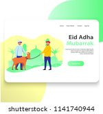 eid adha web landing page... | Shutterstock .eps vector #1141740944