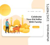template landing page web... | Shutterstock .eps vector #1141740971