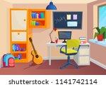 student or pupil room.... | Shutterstock .eps vector #1141742114