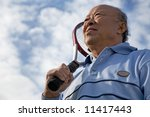 a shot of a senior asian man... | Shutterstock . vector #11417443