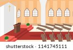the scene of the church... | Shutterstock .eps vector #1141745111