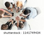 top view on difficult youth... | Shutterstock . vector #1141749434