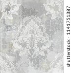 baroque classic damask pattern... | Shutterstock .eps vector #1141751387
