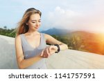sunshine portrait of young... | Shutterstock . vector #1141757591
