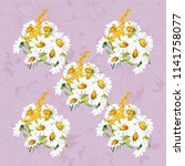 seamless floral pattern with... | Shutterstock .eps vector #1141758077