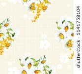 seamless floral pattern with... | Shutterstock .eps vector #1141758104