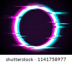 an illuminated circle with... | Shutterstock .eps vector #1141758977