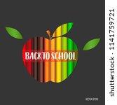 welcome back to school  vector... | Shutterstock .eps vector #1141759721
