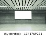 digital billboards with clear... | Shutterstock . vector #1141769231