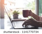 business man  freelance hands... | Shutterstock . vector #1141770734