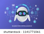 marketing bot  chatbot  data... | Shutterstock .eps vector #1141771061