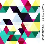 multicolored triangles abstract ... | Shutterstock .eps vector #1141773947