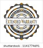 extended warranty arabic badge... | Shutterstock .eps vector #1141774691