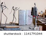 figures of music performers are ... | Shutterstock . vector #1141791044