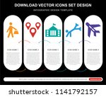 5 vector icons such as shopper... | Shutterstock .eps vector #1141792157
